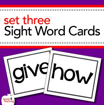 Dolch Sight Word Cards - First Grade Set