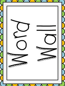 Dolch Sight Word (1st Grade) Word Wall