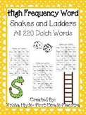 Sight Word Snakes and Ladders All 220 Dolch Words  Game