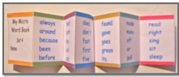 Dolch Sight Word Accordion Micro Books