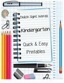 Dolch Sight Word Activities {Kindergarten}