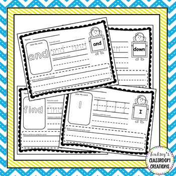 Sight Word Activities - Dolch Words - Pre-Primer through 3rd grade