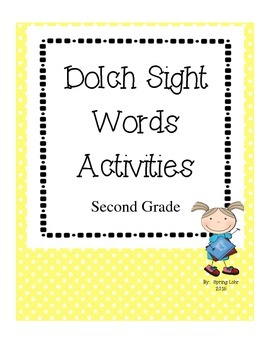 Dolch Sight Word Activities - Second Grade