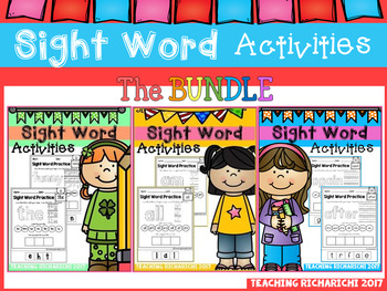 Dolch Sight Word Activities The BUNDLE Coronavirus Packet Distance Learning