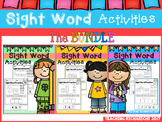 Dolch Sight Word Activities The BUNDLE Coronavirus Packet