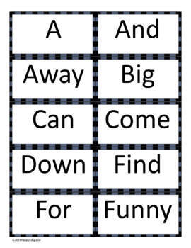 Dolch Sight Words Activities - Week 1
