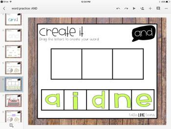 Dolch Sight Word Activities for the Google Classroom