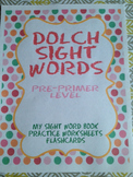 Dolch Sight Word Activity Pack Preprimer Level