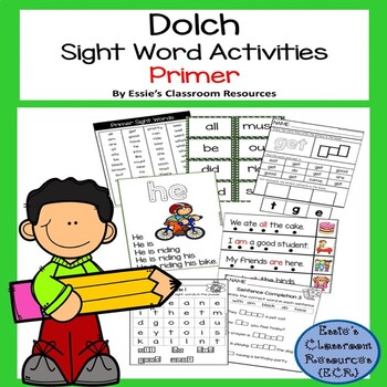 Dolch Sight Word Activity - Primer