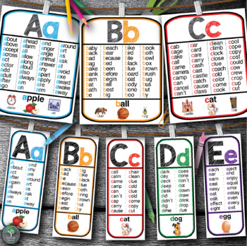 word using all letters sight word alphabet posters all 26 letters phonics 200