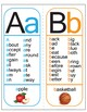 Sight Word Alphabet Posters - All 26 letters (phonics, wor
