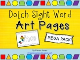 {Dolch} Sight Word Art Pages *MEGA PACK*