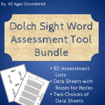 Dolch Sight Word Assessment Mixed by Level