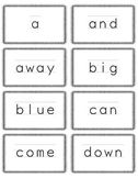 Dolch Sight Word Assessment, Flash Cards, and Sorting Mats