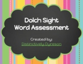 Dolch Sight Word Assessment - Google Form