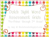 Dolch Sight Word Assessment Grids