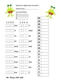Dolch Sight Word Assessment: List 2