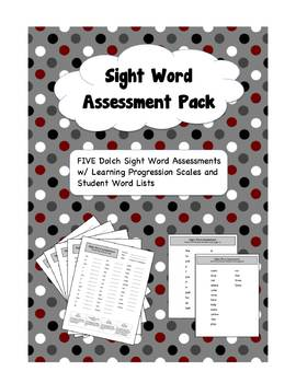 Dolch Sight Word Assessment Pack with Student Word Lists (