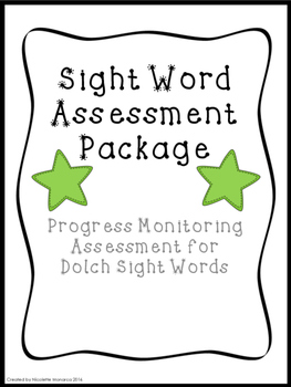 Dolch Sight Word Assessment Package
