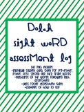 Dolch Sight Word Assessment Records