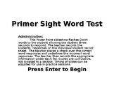 Dolch Sight Word Assessment Tool - K