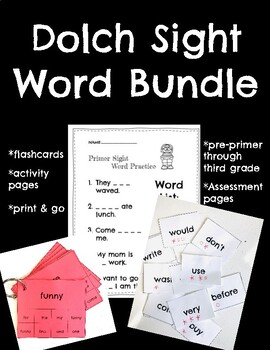 Dolch Sight Word Assessments & Practice Pages