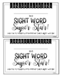 Dolch Sight Word Assessments and Mastery Certificates