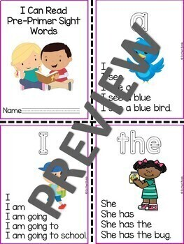 Dolch Sight Word Activity - PrePrimer