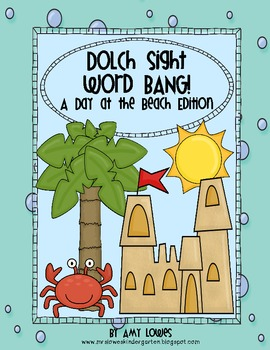 Dolch Sight Word BANG!  {A Day at the Beach Edition}