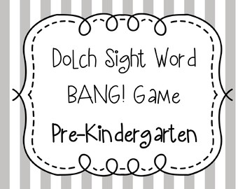 Dolch Sight Word BANG! Game Pre-Primer to Third **BUNDLE**