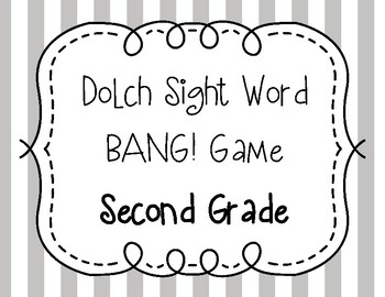 Dolch Sight Word BANG! Game Second Grade