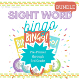 Dolch Sight Word BINGO Bundle (pre-primer to 3rd)