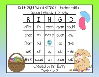 Dolch Sight Word BINGO - Grade 1 Easter Edition