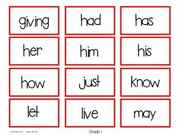 Dolch Sight Word BINGO - Grade 1 Kids at School Edition