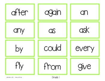 Dolch Sight Word BINGO - Grade 1 Spring Frog Edition