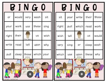 Dolch Sight Word BINGO - Grade 2 Ice Cream Kids Edition
