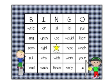 Dolch Sight Word BINGO - Grade 2 Kids at Play Edition