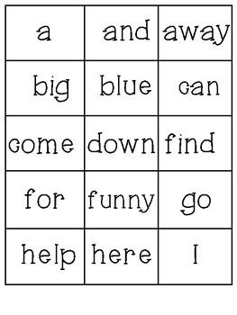 Dolch Sight Word BINGO: Pre Kindergarten