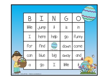 Dolch Sight Word BINGO - Pre Primer Easter Edition