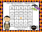 Dolch Sight Word BINGO - Pre Primer Halloween Edition