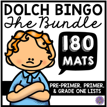 Dolch Sight Word BINGO - Pre-Primer, Primer, and Grade One Lists