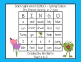 Dolch Sight Word BINGO - Pre Primer Spring Frog Edition