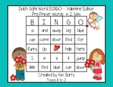 Dolch Sight Word BINGO - Pre Primer Valentine Edition