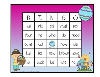 Dolch Sight Word BINGO - Primer Easter Edition