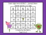 Dolch Sight Word BINGO - Primer Spring Frog Edition