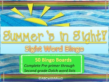 Dolch Sight Word BINGO