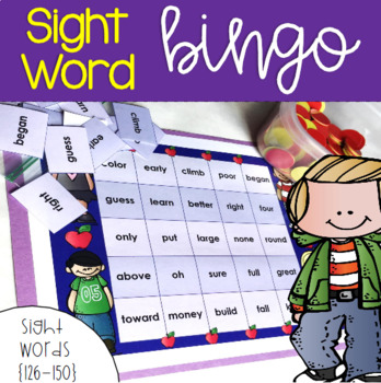 Sight Word Bingo for Words 126-150