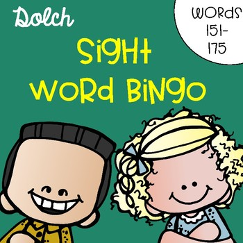 Sight Word Bingo for Words 151-175