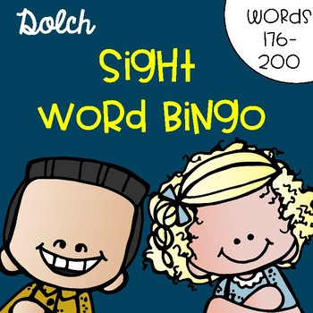 Sight Word Bingo for Words 176-200