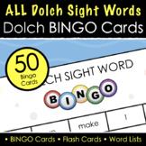 Dolch Sight Word Bingo - 51 Bingo Cards, 4 Sets of 220 Fla